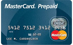 Prepaid MasterCard Debit Card Reward Card