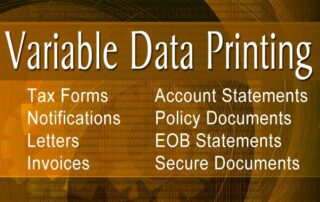 variable data printing, personalized mailings, third party invoicing, mass mailings, direct mailings, postcard mailings, custom data driven mailings, data driven direct mail, vdp, vdi, bulk certified mail services, bulk certified mailing